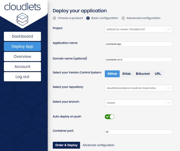 Deploy een applicatie met Cloudlets Deployments
